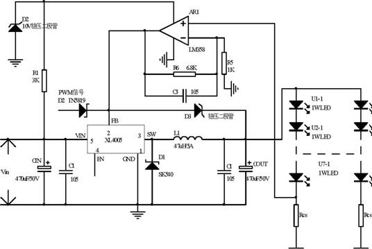 xl4003+lm358典型应用电路及图示